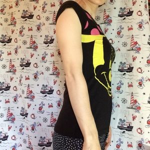 Disney Tops - Disney Minnie Mouse Vibrant Yellow Pink T-Shirt